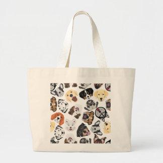Grand Tote Bag Chiens de motif d'illustration