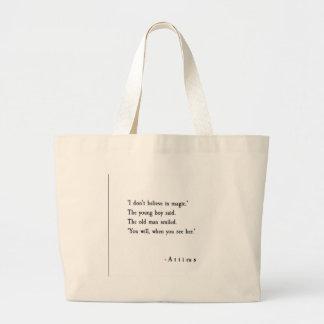 Grand Tote Bag Citation d'amour