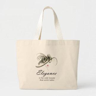 Grand Tote Bag Citation de mode d'élégance