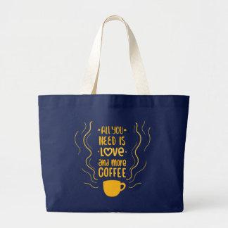Grand Tote Bag Citation drôle de dépendance d'amant de caféine de