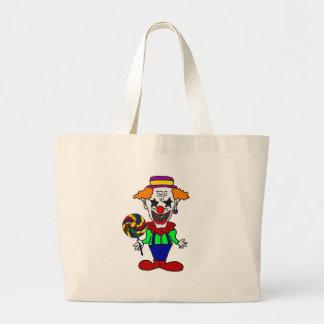 Grand Tote Bag Clown mauvais drôle mangeant la bande dessinée de