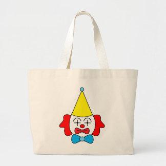 Grand Tote Bag Clown - visage drôle