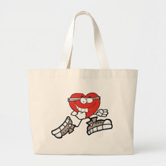 Grand Tote Bag coeur courant