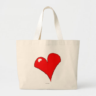 Grand Tote Bag Coeur d'amusement mignon/Chambre rouges Girly à la