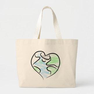 Grand Tote Bag Coeur de la terre