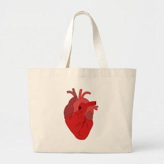 Grand Tote Bag Coeur rouge réaliste