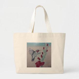 Grand Tote Bag Colibri douceurs de peinture à l'huile '