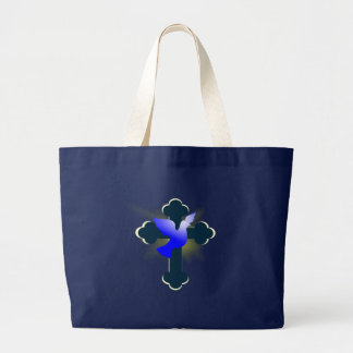 Grand Tote Bag colombe et croix