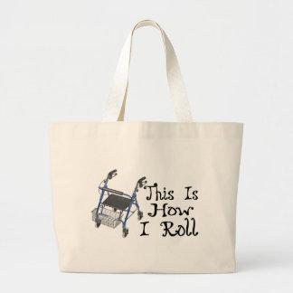 Grand Tote Bag Comment je roule le marcheur