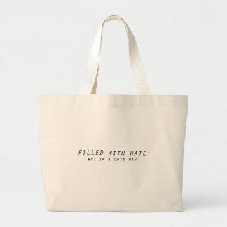 Grand Tote Bag complété avec haine mais une manière mignonne