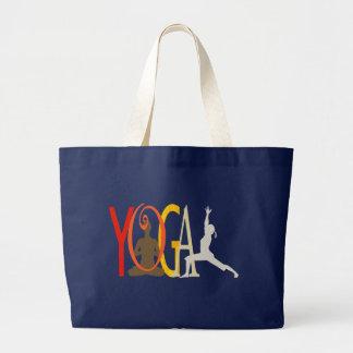 Grand Tote Bag Concepteur vif de yoga moderne mignon