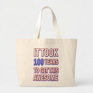 Grand Tote Bag conception de 100 anniversaires