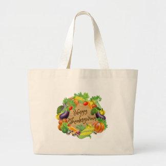 Grand Tote Bag Conception de légume et de fruits de bon