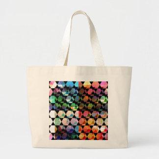 Grand Tote Bag Conception graphique d'hexagone abstrait