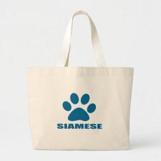 GRAND TOTE BAG CONCEPTIONS DE CAT SIAMOIS