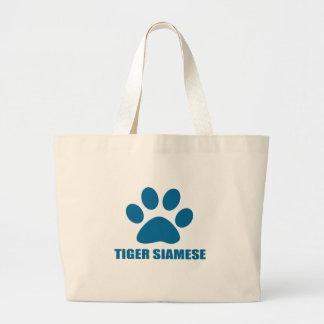 GRAND TOTE BAG CONCEPTIONS DE CAT SIAMOIS DE TIGRE