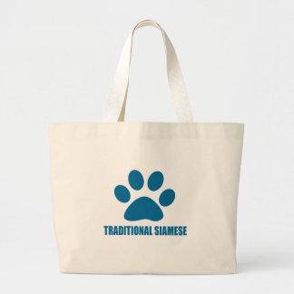 GRAND TOTE BAG CONCEPTIONS TRADITIONNELLES DE CAT SIAMOIS