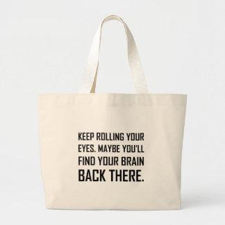 Grand Tote Bag Continuez à rouler le cerveau de découverte de