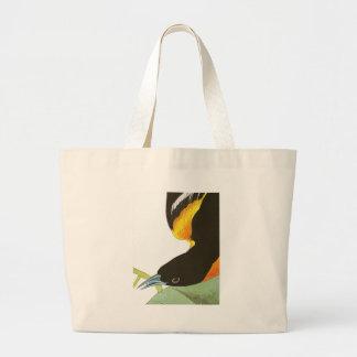 Grand Tote Bag Copie d'Audubon de Baltimore Oriole