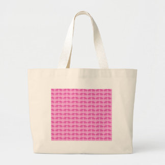 Grand Tote Bag Copie rose de Triceratops de dinosaure