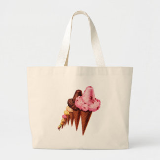 Grand Tote Bag Cornets de crème glacée