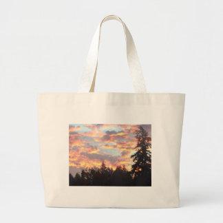 Grand Tote Bag Coucher du soleil ardent