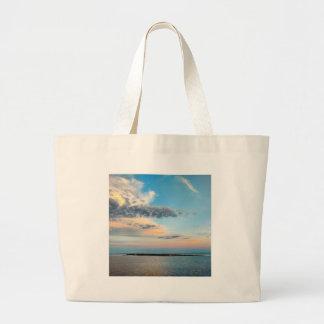 Grand Tote Bag Coucher du soleil au-dessus de l'île