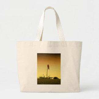 Grand Tote Bag Coucher du soleil d'aéroport