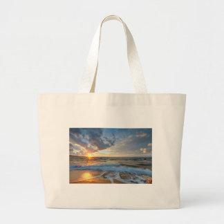 Grand Tote Bag Coucher du soleil stupéfiant