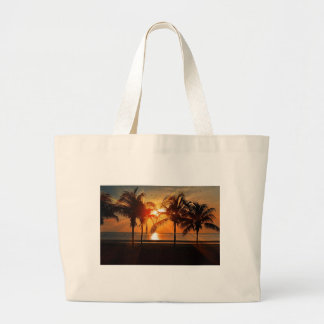 Grand Tote Bag Coucher du soleil tropical