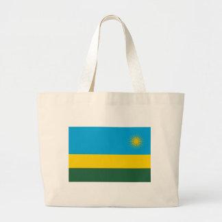 Grand Tote Bag Coût bas ! Drapeau du Rwanda