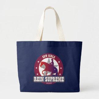 Grand Tote Bag Cow-girls à la mode retenant des emballages de