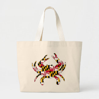 Grand Tote Bag Crabe onduleux de drapeau du Maryland