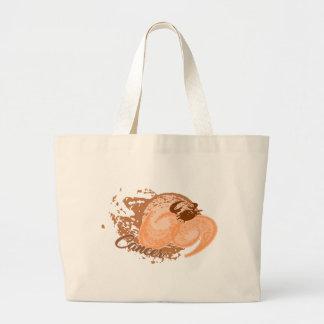 Grand Tote Bag Crabe orange d'horoscope de Cancer