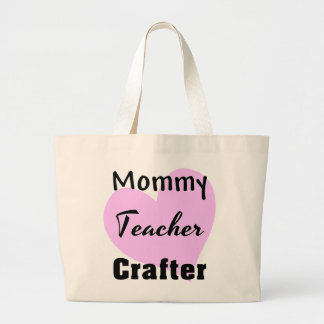 Grand Tote Bag Crafter Fourre-tout de professeur de maman