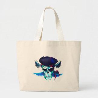 Grand Tote Bag Crâne et os croisés