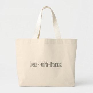 """Grand Tote Bag """"CRÉEZ  •  ÉDITEZ  •  L'ÉMISSION"""", texte, CRÉENT,"""