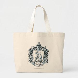 Grand Tote Bag Crête de Harry Potter   Slytherin - bleu glacier