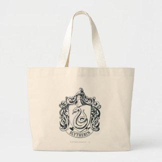 Grand Tote Bag Crête de Harry Potter   Slytherin - noire et