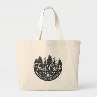 Grand Tote Bag Cru rond de camp de forêt