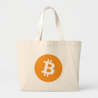 Grand Tote Bag Crypto logo de devise de Bitcoin