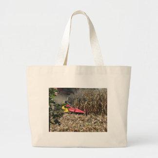 Grand Tote Bag Culture de maïs de récolte mécanisée dans le