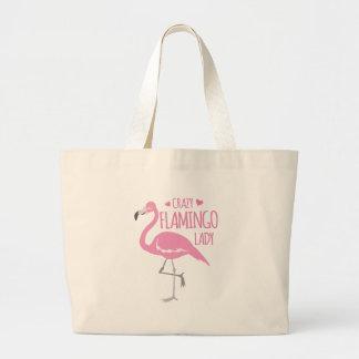 Grand Tote Bag Dame folle de flamant