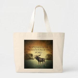 Grand Tote Bag Dans le Wildness est la conservation du monde