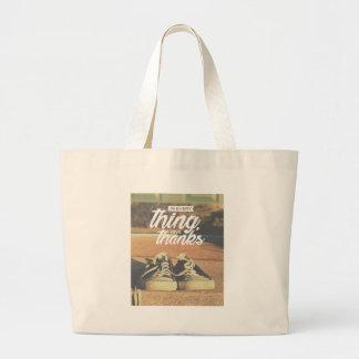 Grand Tote Bag Dans tout donnez les mercis
