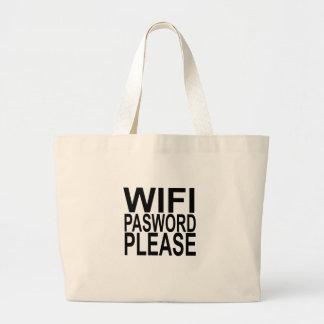 Grand Tote Bag de wifi de mot de passe CHEMISE DRÔLE svp.