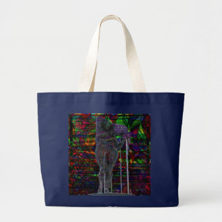 Grand Tote Bag Déesse abstraite de Verseau