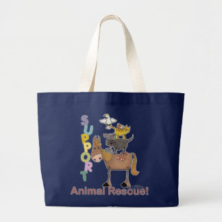 Grand Tote Bag Délivrance animale de soutien