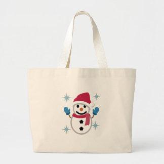 Grand Tote Bag Dessin de bonhomme de neige