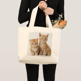 Grand Tote Bag Deux chatons adorables